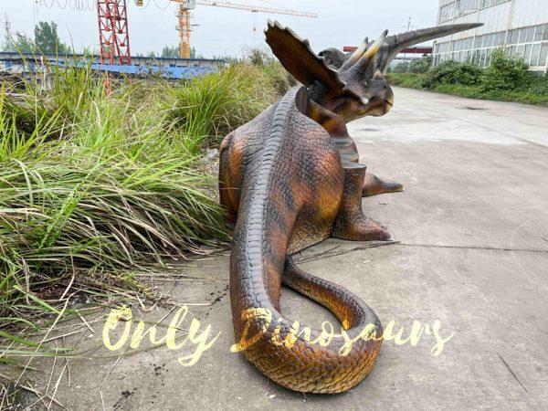 Funny-Fiberglass-Dinosaur-Triceratops-Bench-2