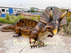 Funny Fiberglass Dinosaur Triceratops Bench