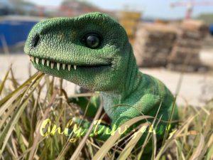 Green Adorable Baby Tyrannosaurus Rex Hand Puppet