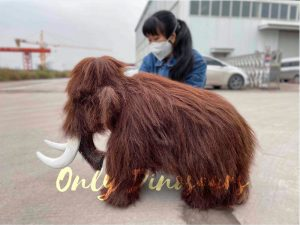 Hairy Mammoth Puppet With Tusk