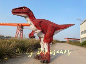 Jurassic Park Red Raptor Dinosaur Costume