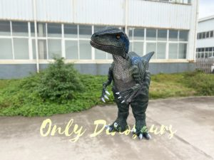 Jurassic Park Stripe Raptor Dinosaur Costume