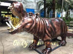 Life-like Giant Animatronic Hippopotamus for Natural Museum
