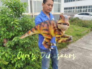 Lifelike Customizable Baby Raptor Dinosaur Hand Puppet