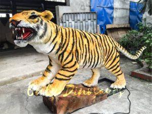 Lifelike Electric Tiger with Sharp Teeth