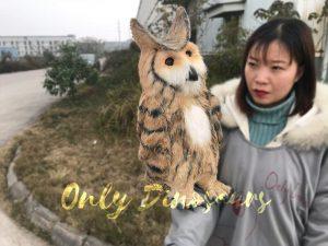 Lifelike Plush Owl Hand Puppet