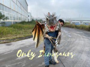 Lifelike Shoulder Flying Dragon Puppet for Performer