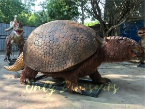 Realistic Animatronic Glyptodon from The Ice Age