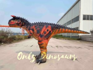Realistic Carnotaurus Costume with Red & Black Color