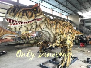 Striped Tyrannosaurus Rex with Bloody Mouth
