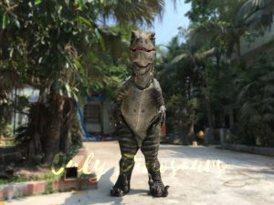 Realistic Single-man Velociraptor Costume with Hidden Legs