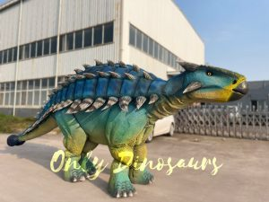 Vivid Ankylosaur Blue Costume Controlled by two-person