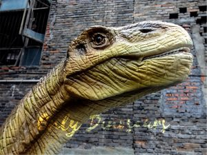 Vivid Jurassic Park Robotic Shunosaurus Dinosaur Model