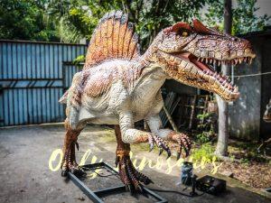 lifelike Animatronic Roaring Spinosaurus Dino Statue