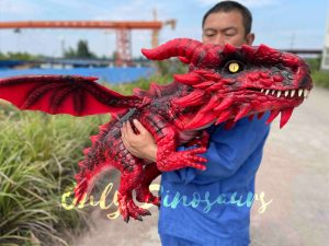 Intriguing Flying Baby Dragon Hand Puppet for Kids