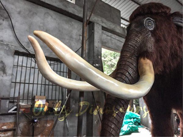 Lifelike-Robotic-Prehistoric-Mammoth-Animal-Statue-for-Show3