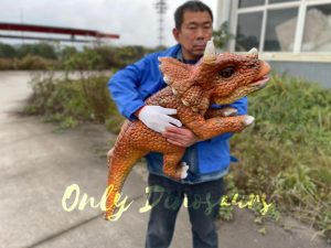 Lifelike Dino Triceratops False Arm Puppet