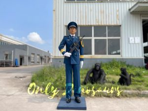 Outdoor Life Size PLA Soldier Statue for Exhibition