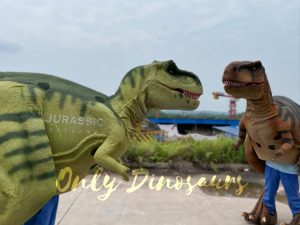 Vivid T-Rex Visible Legs Dinosaur Costume