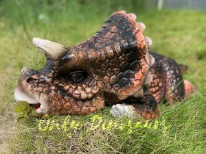 Adorable Baby Animatronic Triceratops Puppets