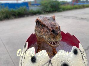 Custom Dino T-Rex Hatching Egg Prop for Park