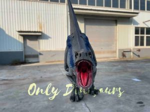 Lifelike Hidden Legs Raptor Dinosaur Costume for Sale