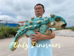 Realistic Bumpy Ankylosaur Baby Dino Puppet