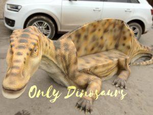 Realistic Iguanodon Dinosaur Bench for Park