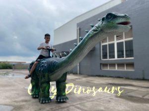 Realistic Walking Ruyangosaurus Dino Kiddie Ride