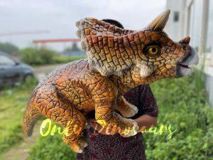 Vivid Baby Triceratops Dino Hand Puppet