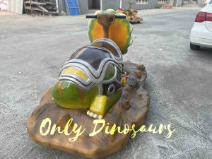 Colorful Armor Triceratops Dinosaur Ride for Sale