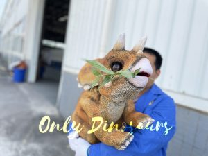 Softest Baby Triceratops Puppet for Sale