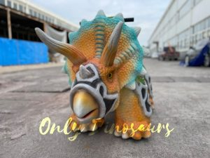 Colorful Armored Triceratops Kiddie Scooter