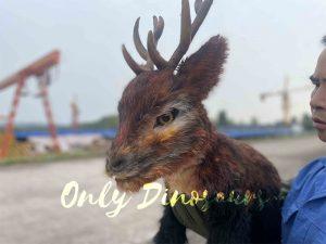 False Arm Brown Reindeer Puppet for Christmas