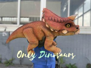False Arm Red Baby Triceratops Dino Puppet