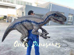 Jurassic Blue Halloween Shoulder Raptor Puppet