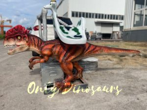 Realistic Dilophosaurus Stationary Dino Ride
