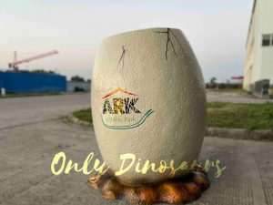 Realistic Dinosaur Egg Photo Prop